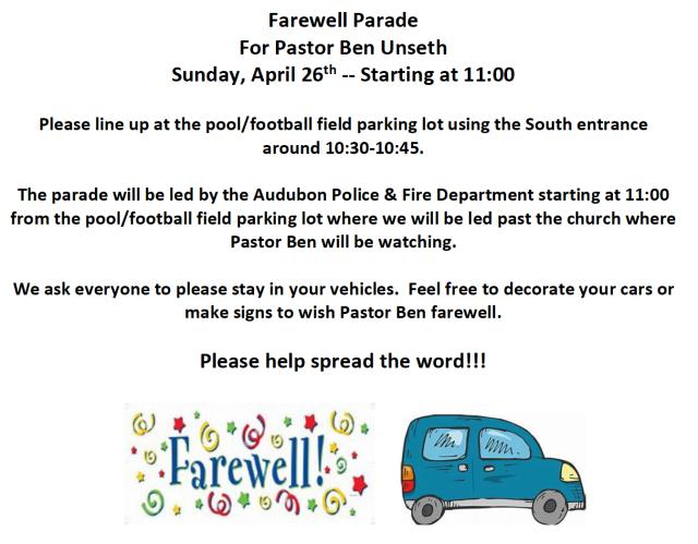 Farewell Parade